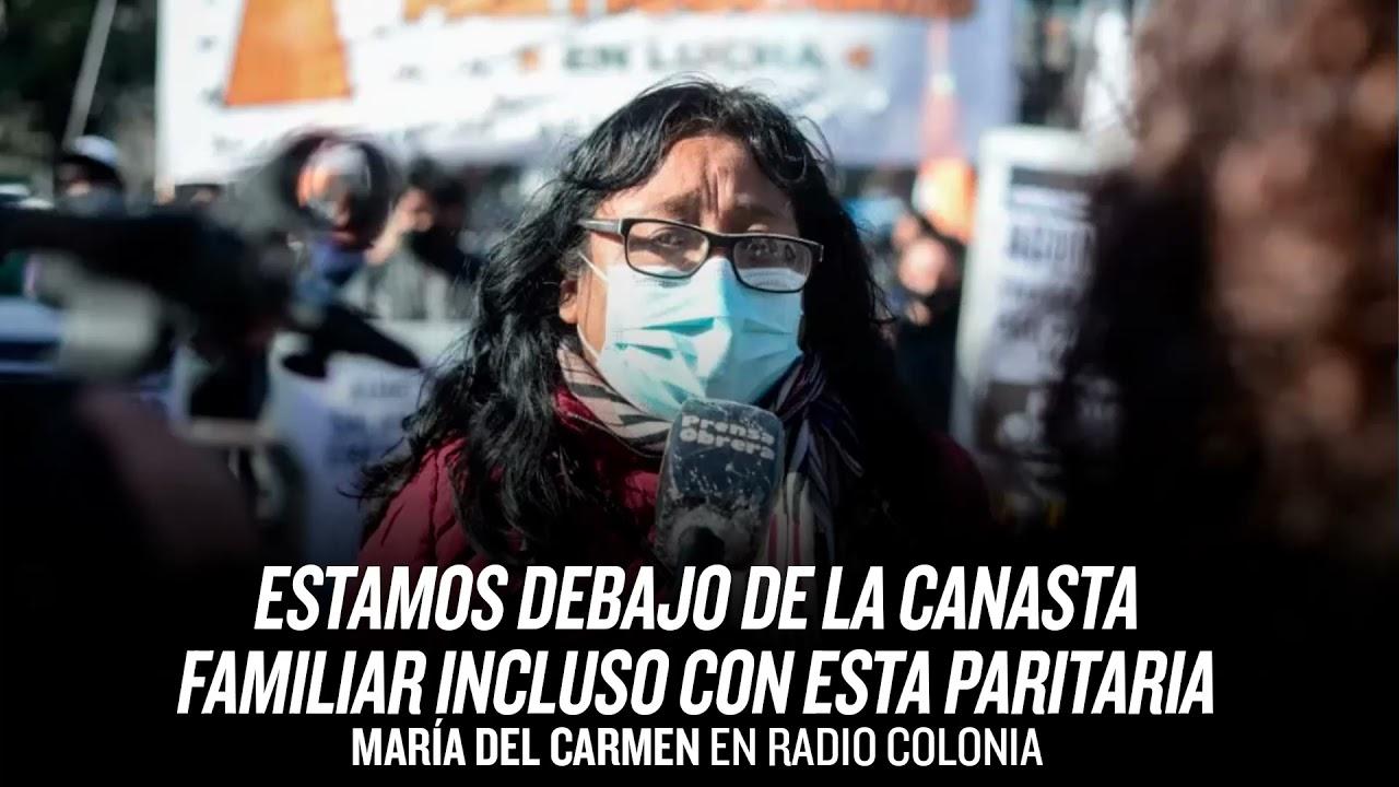 Estamos debajo de la canasta familiar, incluso con esta paritaria // María del Carmen Radio Colonia