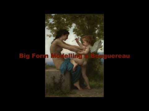 Painting  Bouguereau - The Big Form Modelling Stage