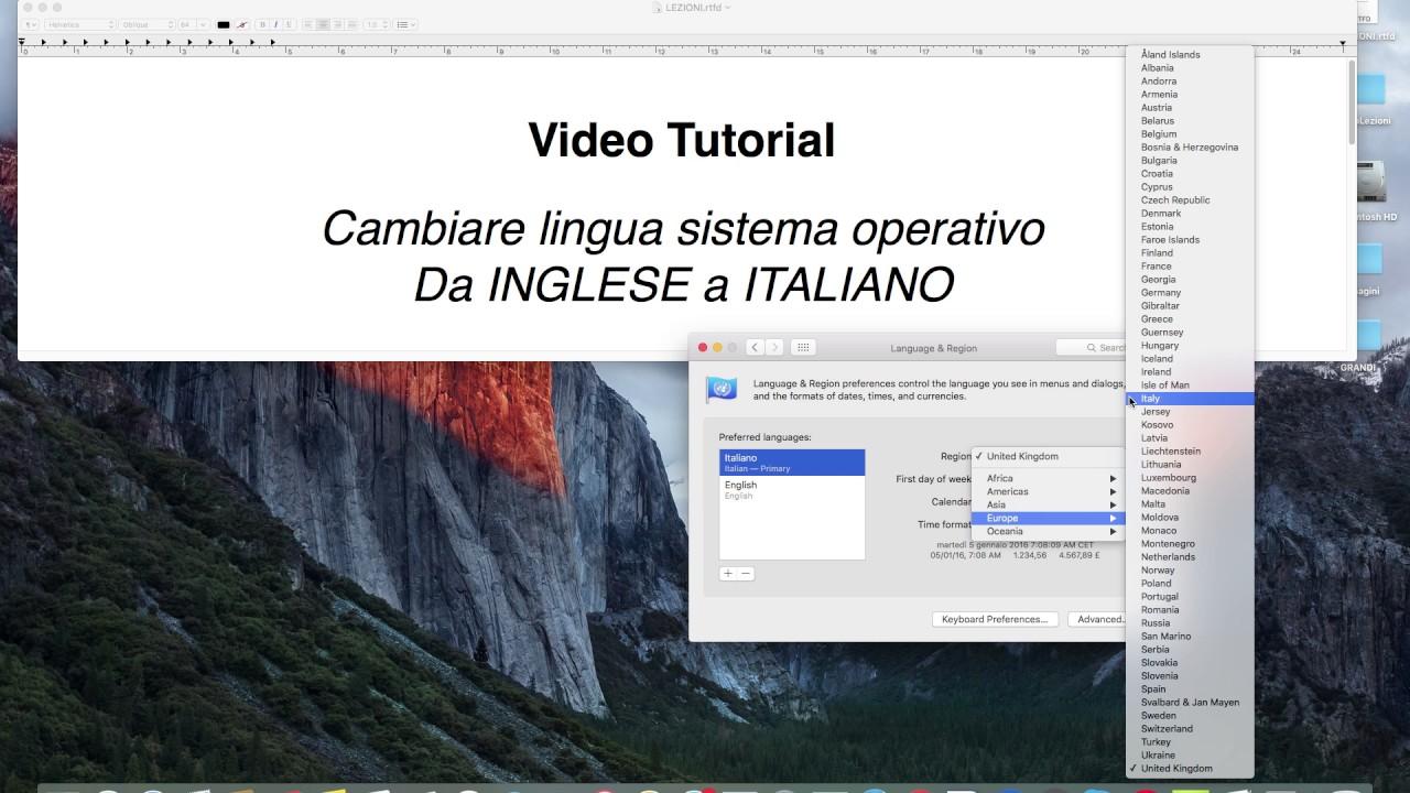 lingua italiana autocad 2011 mac