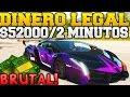 GTA 5 ONLINE GUIA DE DINERO LEGAL Y BRUTAL $52000 EN 2 MINUTOS INCREIBLE! Y FACIL GTA V ONLINE