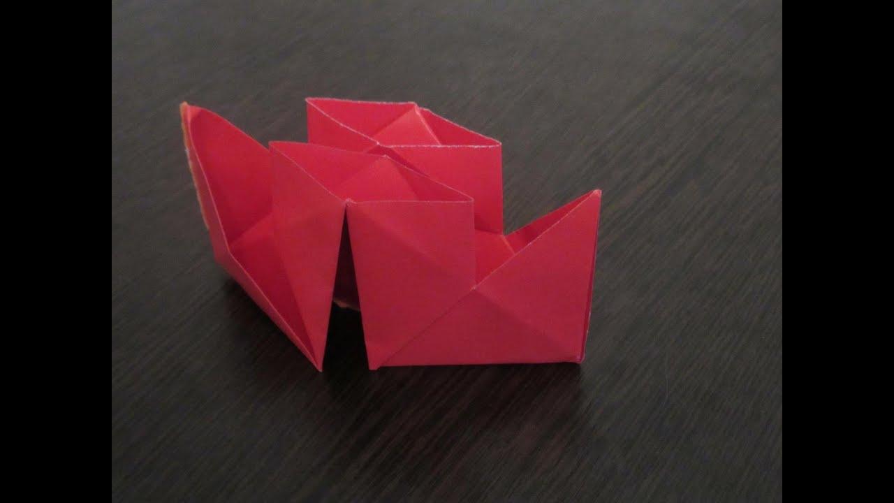 теплоход с трубой из бумаги оригами схема