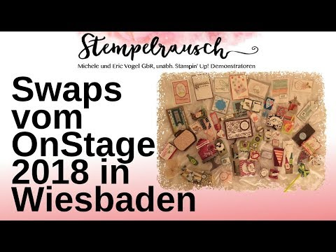 Swaps Vom Stampin Up Onstage 2018 In Wiesbaden видео с