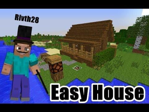 Minecraft : สอนทำบ้านไม้ง่ายๆสวยๆ 1.7.2 - Rivth28