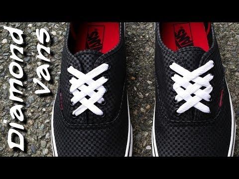 ♢♢♢♢♢How to Diamond lace Vans