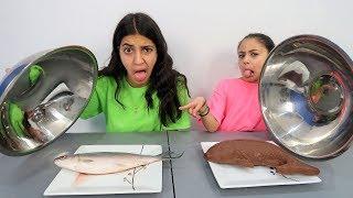 Chocolate Food vs Real Challenge!