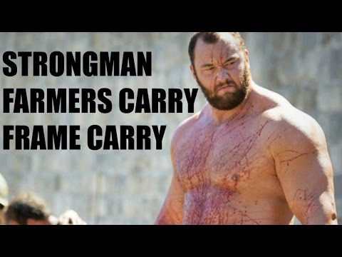 Strongman Farmers Carry and Frame Carry