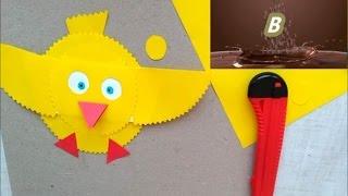 Бумажный Цыплёнок Video for Kids  Paper chick Видео для детей