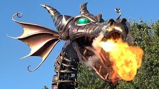 Disney Stars On Parade at Disneyland Paris 2018 During Halloween Festival, Maleficent Dragon w/ Fire
