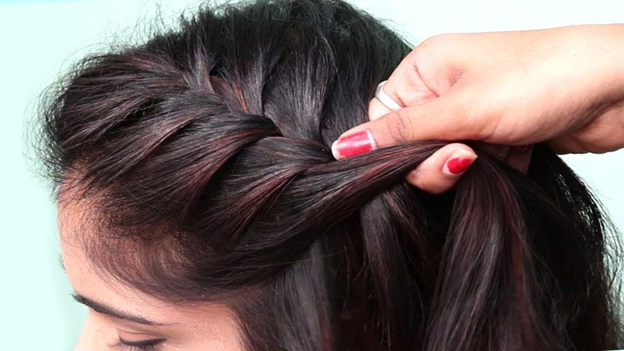 Beautiful Twisted Braid Hairstyle For Girls