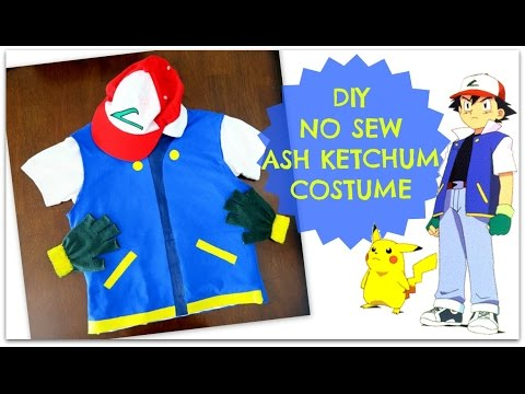 Diy No Sew Pokemon Trainer Ash Ketchum Costume Easy Cheap
