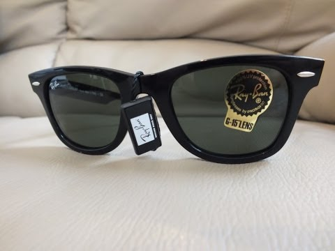 ray ban wayfarer rb2140  real genuine ray ban original wayfarer rb2140 50 unboxing sun glasses