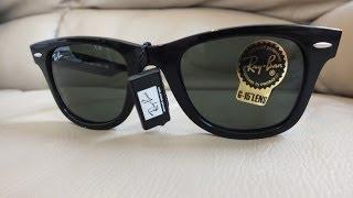 Real Genuine Ray Ban Original Wayfarer RB2140 50 unboxing sun glasses