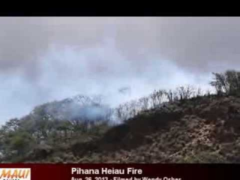 Pihana Heiau Fire - Aug. 26, 2013
