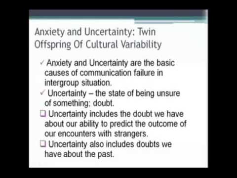 Anxiety/Uncertainty Management Theory