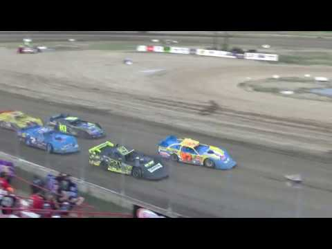 UMP Late Model Heat Race #2 at I-96 Speedway on 07-12-2018