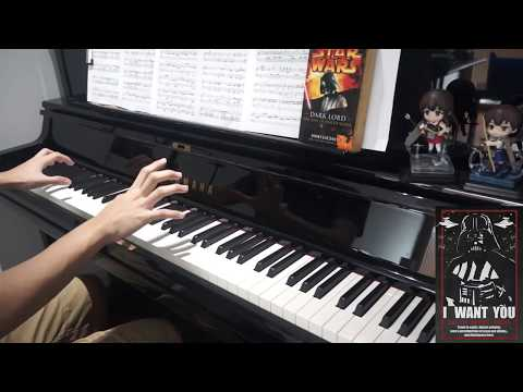 The Imperial March (Darth Vader's Theme) Piano Solo (Music Sheets in Description!!)
