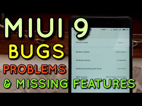 Miui 9 Bugs, Problems & Missing Features | Hindi - हिंदी