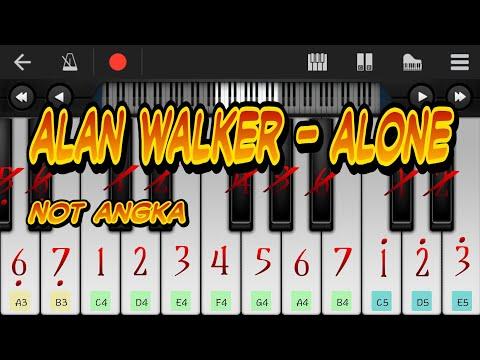 ALONE (cover) Not angka pianika belajar
