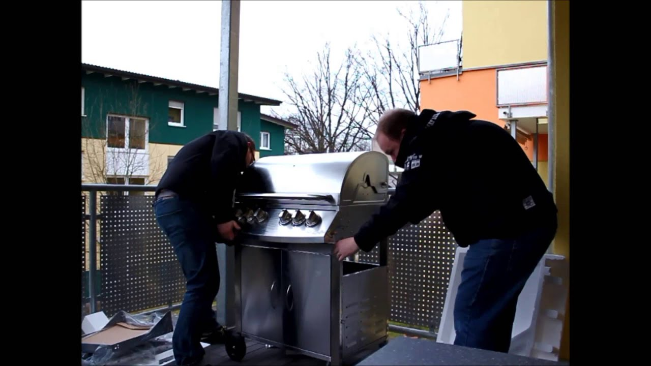 Landmann Gasgrill Aufbauanleitung : Unboxing bbq bull gasgrill hd youtube