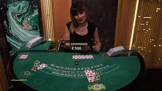 500€ VS Live Blackjack ♠️