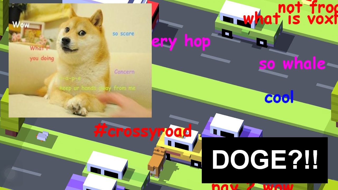 DOGE?!! Pronunciation?   Crossy Road Characters - iOS Character ...