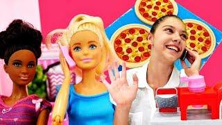 Видео для девочек. Полен развозит еду. Мультик Барби