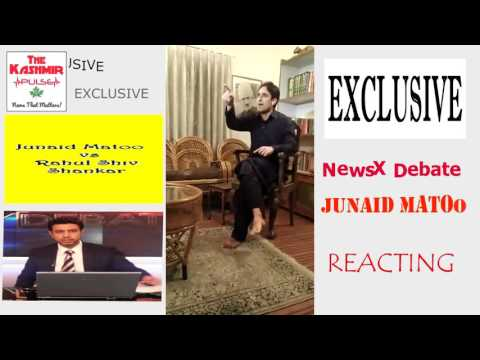 How fiercely Junaid Matoo reacts to NewsX anchor Rahul Shiv Shankar