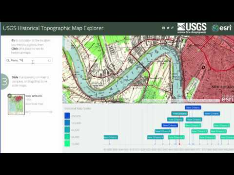 The Historical USGS Topographic Maps Explorer in ArcGIS Online