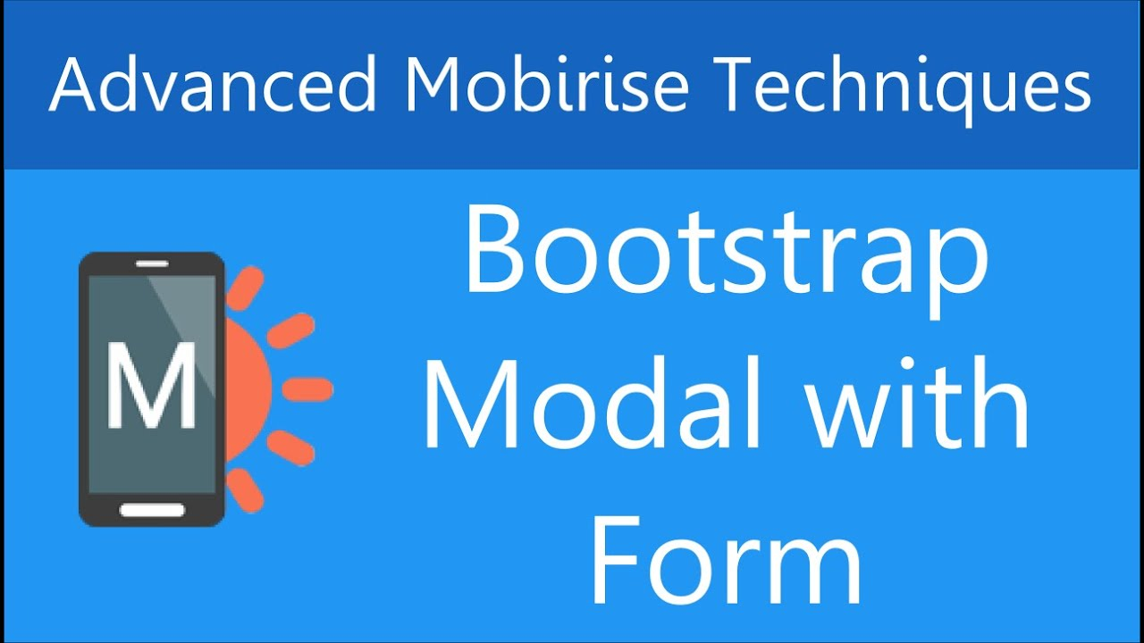 Create A Bootstrap Modal With Form In Mobirise Youtube