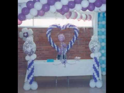 Decoracion con globos bodas y xv a os youtube - Decoracion con globos 50 anos ...