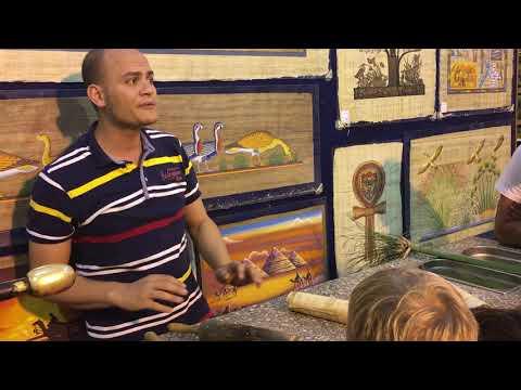 Cum se face papirusul Egipt Viotop Travel
