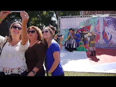 Festa Confederada in Santa Barbara Brazil - Brazilian Town Celebrates Confederacy