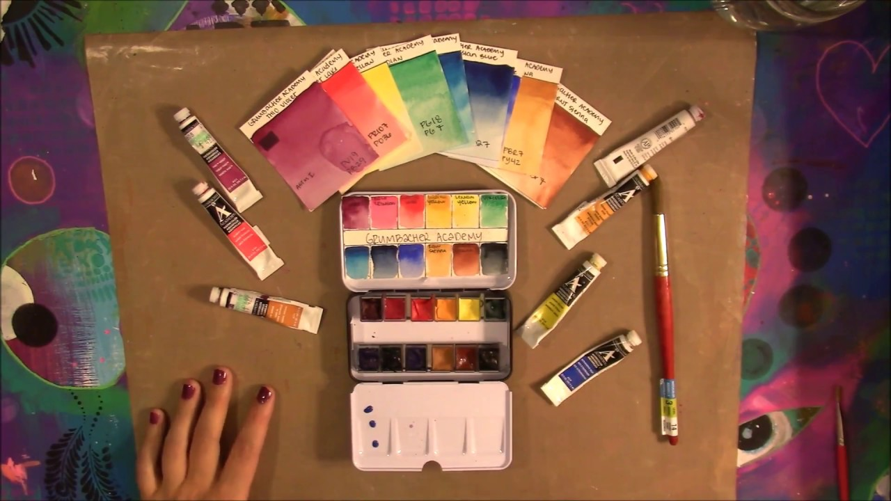 watercolor review grumbacher academy youtube
