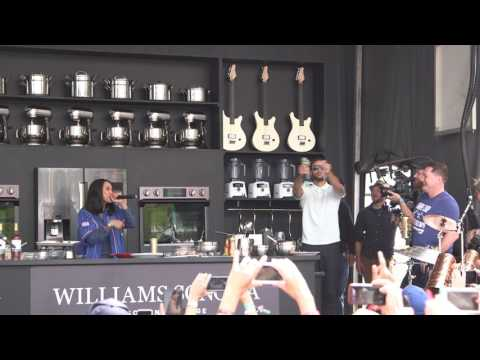 Ayesha Curry raps at BottleRock in Napa, drops mic