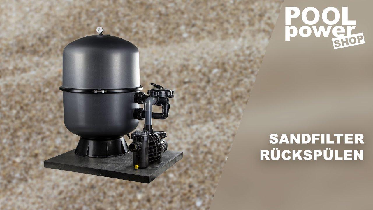 sandfilteranlage richtig r cksp len youtube. Black Bedroom Furniture Sets. Home Design Ideas