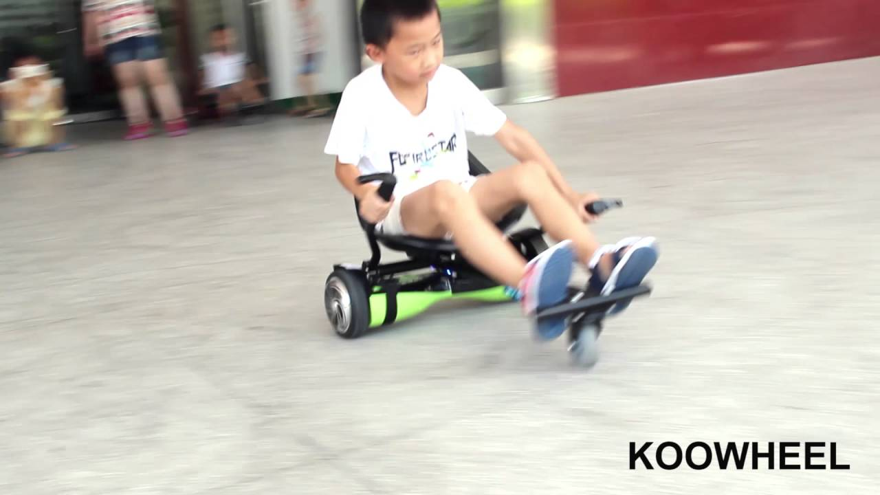 Hoverboard Con Sedile Hoverboard Cart Show Amazing New Hoverboard Kart Hoverkarts Hovercarts Go Cart Seat