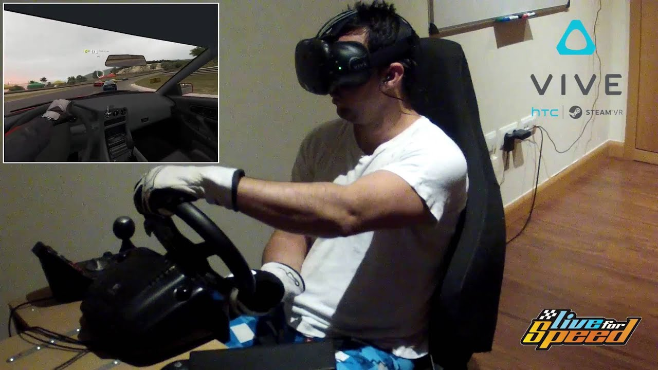 Sim Racing Virtual Reality Htc Vive Youtube