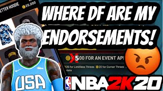 Why Aren't We Receiving any Endorsement Events/VC + Expensive Clothing in NBA2K20!