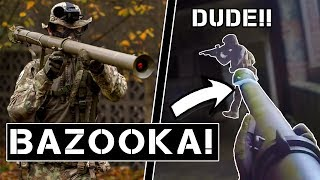 Players gets ANGRY being shot by BAZOOKA (close range).