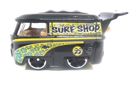 Hot Wheels Kool Kombi Black HW Surf/'s Up Mooneyes 2//5