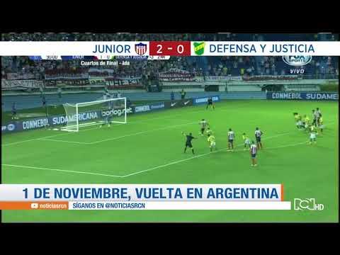 Junior vence a Defensa y Justicia en el partido de ida por los cuartos de final de la Sudamericana
