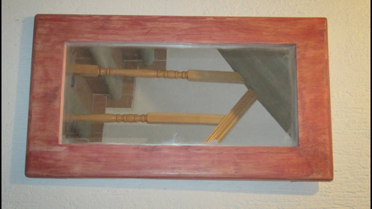 Como hacer marco de madera para espejo 2 facil y rapido for Como hacer un espejo con marco de madera
