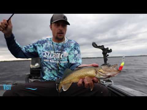 Fishing For Walleye On Island Lake In Duluth Minnesota