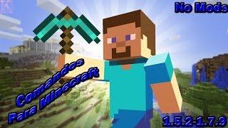 Trucos/Comandos Para Minecraft [No Mods] [1.5.2-1.10]