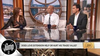 Does Kevin Love's extension with Cavaliers help or hurt his trade value? | The Jump | ESPN