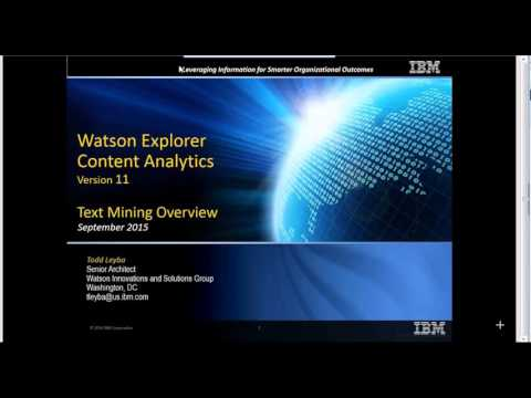 Watson Explorer Content Analytics Overview
