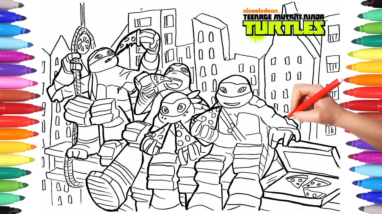 TEENAGE MUTANT NINJA TURTLES TMNT Coloring Pages 2 | How to Draw ...