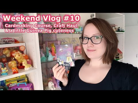 Weekend Vlog #10 A Crafty time - Cardmaking course Craft Haul Shopping in Stockholm Guinea Pig