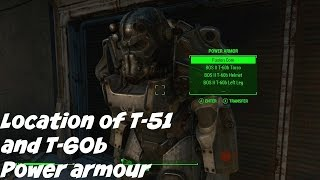 Fallout 4 T-51 and T-60 Power armour location