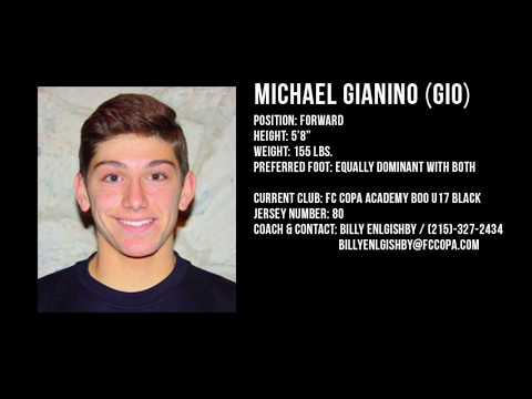 Michael Gianino (Class of 2018) - College Soccer Recruiting Video